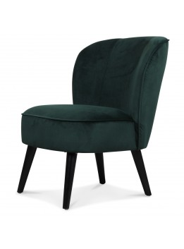 Fauteuil chic crapaud velours vert menthe LADI