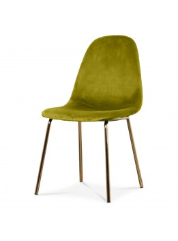 Chaise Jacob gold velours herbier